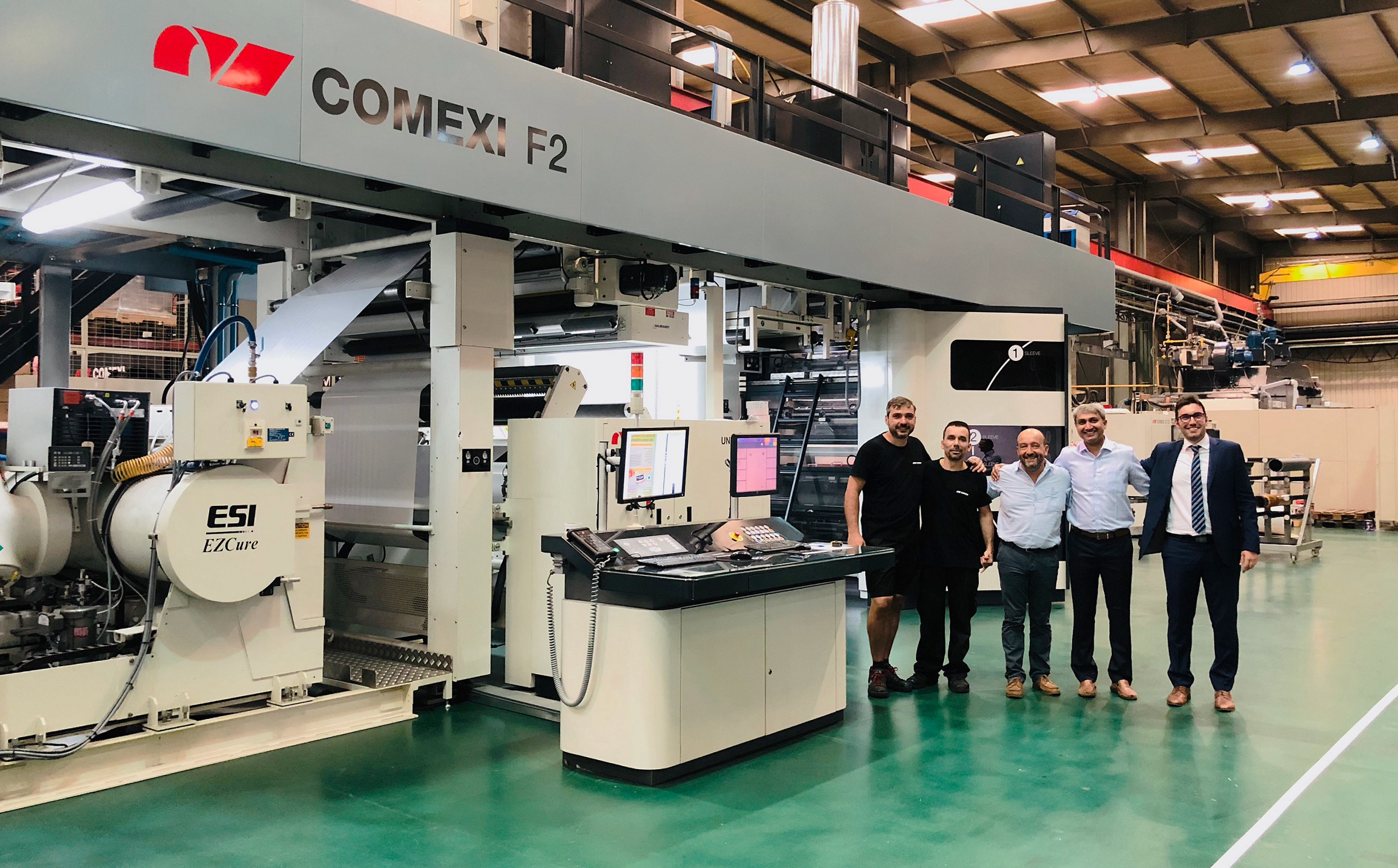 Comexi and Vishal Containers LTD strengthen the commercial relationship thanks to the successful flexo EB technology