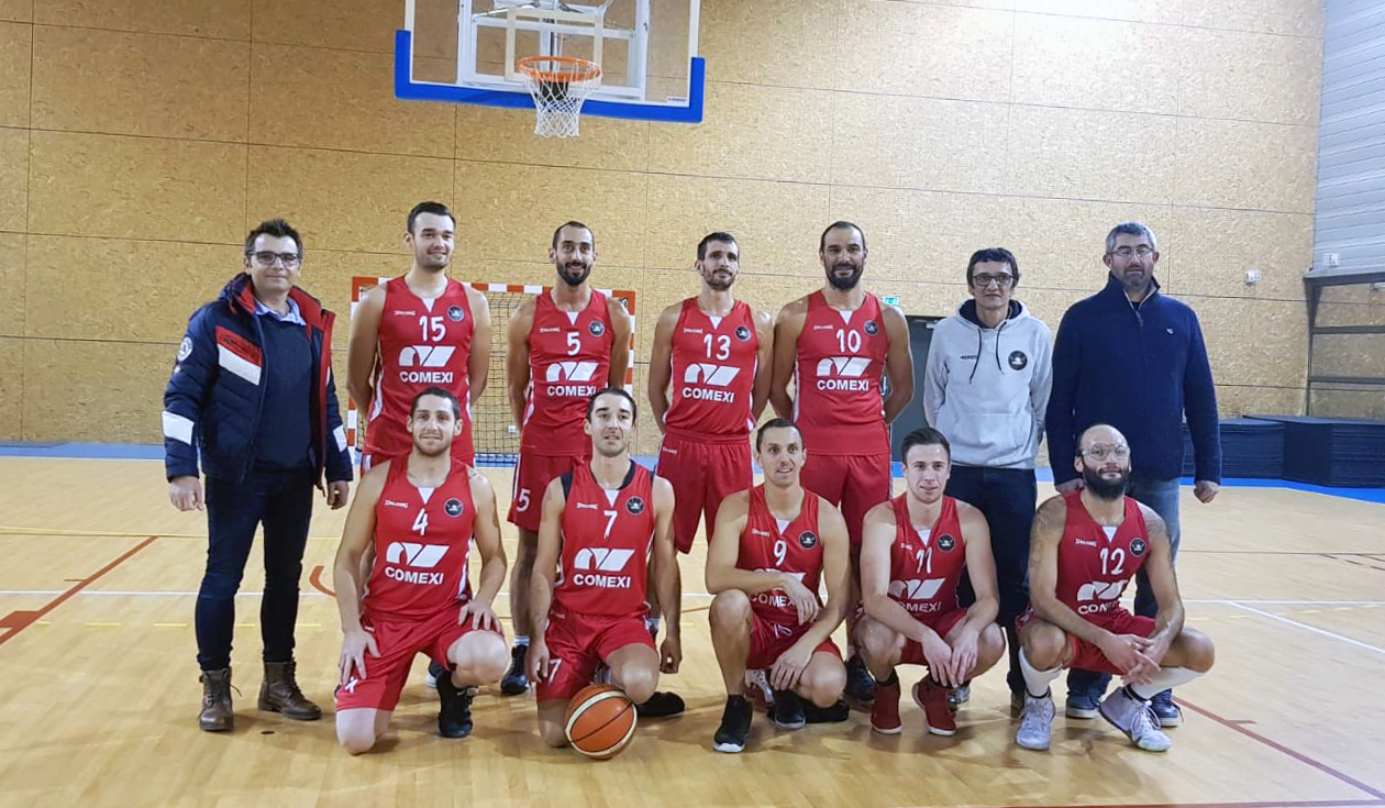 Comexi sponsors the first team of the Basket Club Sigolénois