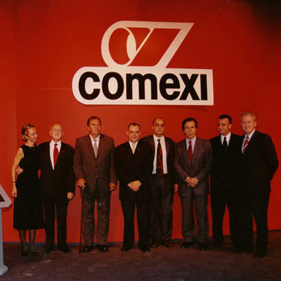 2002. Inauguration of the Comexi Brasil installations in Montenegro, Río Grande do Sul.