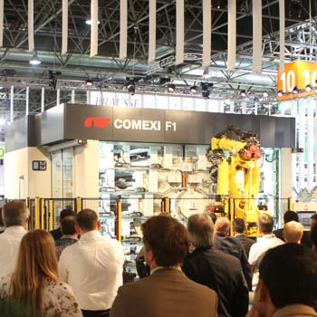 2016. World launch of the Comexi F1 flexographic press at Drupa.